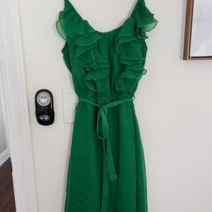 Old Navy Green Ruffle Dress